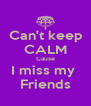 Can't keep  CALM Cause I miss my  Friends - Personalised Poster A4 size
