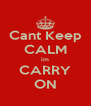 Cant Keep CALM im CARRY ON - Personalised Poster A4 size
