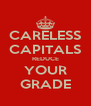 CARELESS CAPITALS REDUCE YOUR GRADE - Personalised Poster A4 size