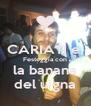 CARIATI e  Festeggia con la banana del uigna - Personalised Poster A4 size