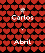 Carlos  Y  Abril - Personalised Poster A4 size
