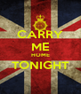CARRY ME HOME TONIGHT  - Personalised Poster A4 size