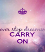 CARRY ON - Personalised Poster A4 size