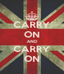 CARRY ON AND CARRY ON - Personalised Poster A4 size