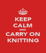 KEEP CALM AND CARRY ON KNITTING - Personalised Poster A4 size