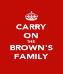 CARRY ON THE BROWN'S FAMILY - Personalised Poster A4 size