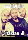 casting u in  3 taklae  :D - Personalised Poster A4 size