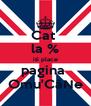 Cat  la % iti place pagina  Omu'CâNe - Personalised Poster A4 size