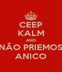 CEEP KALM AND NÃO PRIEMOS ANICO - Personalised Poster A4 size