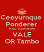 Ceeyurnque  Ponderer A KU TLERIWENI VALE OR Tambo - Personalised Poster A4 size