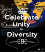 Celebrate  Unity  In  Diversity 🌍🌎🌏 - Personalised Poster A4 size