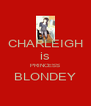 CHARLEIGH is PRINCESS BLONDEY  - Personalised Poster A4 size