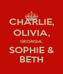 CHARLIE, OLIVIA, GEORGIA, SOPHIE & BETH - Personalised Poster A4 size