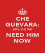 CHE GUEVARA: BOY, DO WE NEED HIM NOW - Personalised Poster A4 size