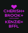 CHERISH+ BROOK+ TAYLOR+ KENZIE= BFFL - Personalised Poster A4 size