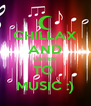 CHILLAX AND LISTEN  TO  MUSIC :) - Personalised Poster A4 size