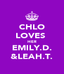 CHLO LOVES  HER EMILY.D. &LEAH.T. - Personalised Poster A4 size