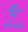 CHLOE AND  ALICE BFF'S  FOREVER! - Personalised Poster A4 size