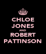 CHLOE JONES AND ROBERT PATTINSON - Personalised Poster A4 size