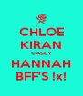 CHLOE KIRAN CASEY HANNAH BFF'S !x! - Personalised Poster A4 size