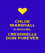 CHLOE MARSHALL IS MICHAEL CRESSWELLS DON FOREVER - Personalised Poster A4 size