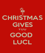 CHRISTMAS GIVES YOU GOOD  LUCL - Personalised Poster A4 size