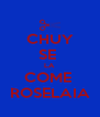 CHUY SE  LA COME  ROSELAIA - Personalised Poster A4 size
