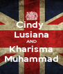 Cindy  Lusiana AND Kharisma Muhammad - Personalised Poster A4 size