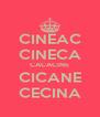 CINEAC CINECA CACACINE CICANE CECINA - Personalised Poster A4 size