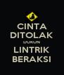 CINTA DITOLAK DUKUN LINTRIK BERAKSI - Personalised Poster A4 size