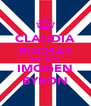 CLAUDIA RUCHAT BFF WITH IMOGEN BYRON - Personalised Poster A4 size