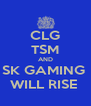 CLG TSM AND SK GAMING  WILL RISE  - Personalised Poster A4 size