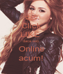 Click LIKE  daca esti  Online acum! - Personalised Poster A4 size
