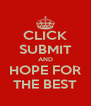 CLICK SUBMIT AND HOPE FOR THE BEST - Personalised Poster A4 size