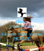 close  youre eyes AND be one with youre HORSE - Personalised Poster A4 size