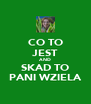 CO TO JEST AND SKAD TO PANI WZIELA - Personalised Poster A4 size