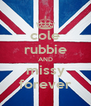 cole rubbie AND missy forever - Personalised Poster A4 size