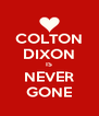 COLTON DIXON IS NEVER GONE - Personalised Poster A4 size