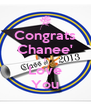 Congrats Chanee' I Love You - Personalised Poster A4 size