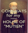 "CONGRATS for my  house: HOUSE OF ""MUTIEN"" - Personalised Poster A4 size"