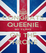 CONGRATS QUEENIE 60 YEARS ON THE THRONE - Personalised Poster A4 size