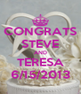 CONGRATS STEVE AND TERESA 6/15/2013 - Personalised Poster A4 size