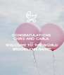 CONGRATULATIONS  CHRIS AND CARLA  AND WELCOME TO THE WORLD BROOKLYNN RAINE! - Personalised Poster A4 size