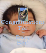 Congratulations For The Baby Boi! - Personalised Poster A4 size
