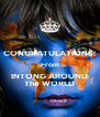 CONGRATULATIONS! From INTONG AROUND The WORLD - Personalised Poster A4 size