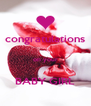 congratulations  on your  BABY GIRL - Personalised Poster A4 size