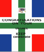 CONGRATULATIONS ON  YOUR DEGREE KEEP   celebrate - Personalised Poster A4 size