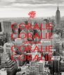 CORALIE CORALIE CORALIE CORALIE CORALIE - Personalised Poster A4 size