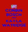 CORBIN BOSCH AND KAYLA WATRIDGE - Personalised Poster A4 size