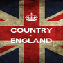 COUNTRY • ENGLAND  - Personalised Poster A4 size